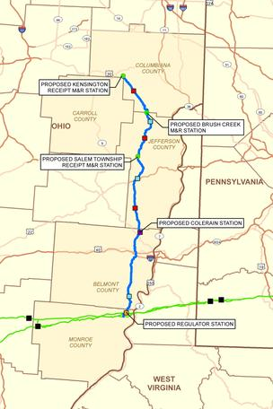 Ohio Gulf Coast pipeline map